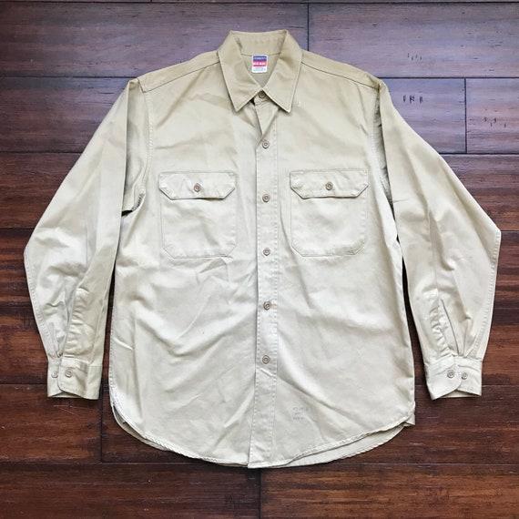 1940's Vintage Penneys Big Mac Army Dress shirt Me