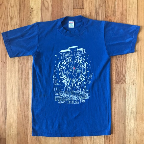 1986 Howard Finster Humans of the World T Shirt T… - image 1