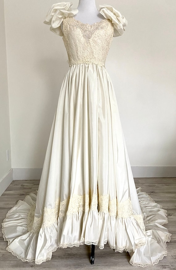 Vintage Wedding Dress, 90s Wedding Dress, 80s Wedd