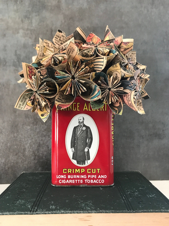 Prince Albert Comic Book Flower Bouquet Paper Flower Centerpiece Home Decor Nerdy Decor Vintage Decor Paper Flower Centerpiece