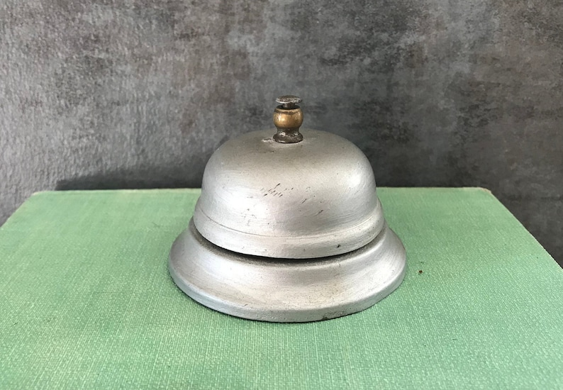 Magnificent Vintage Hotel Desk Bell Ring For Service Bell Front Desk Bell Vintage Teacher Desk Decor Vintage Silver Bell Chrome Bell Interior Design Ideas Apansoteloinfo