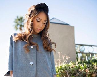 Gabrielle Gray Wool Ladies Coat