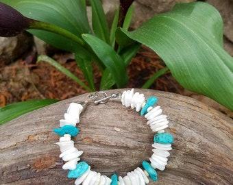 Beach boho shell chip bracelet