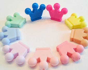 silicone beads crowns set / 29mm