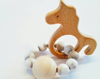 Wood/Unicorn rattle
