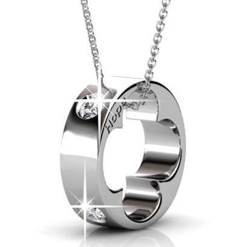 b97652af3 Cate & Chloe Malinda 18k White Gold Swarovski Pendant Heart | Etsy