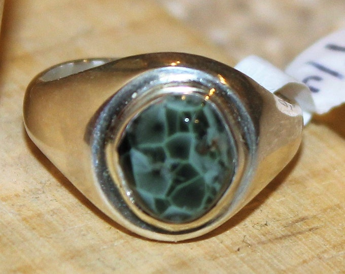 Chlorastrolite-Greenstone from Isle Royal Ring GR-76 Size: 9.25