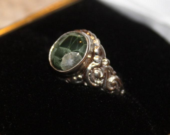 Chlorastrolite (Greenstone) Ring GR-132 Size 6.5