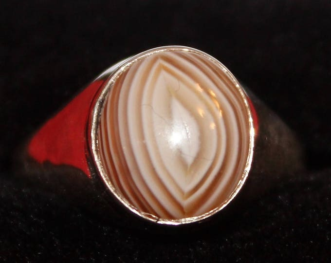 Lake Superior Agate Ring: LSAR-12 Size 9.25