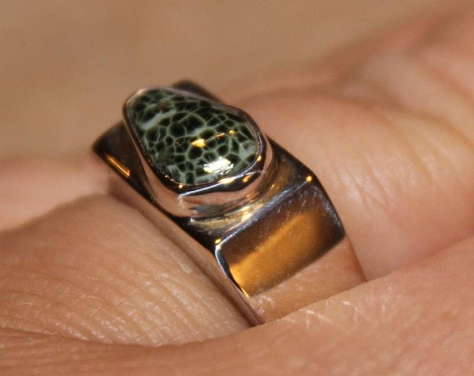 Chlorastrolite (Greenstone) Ring GR-25 Size 7.5