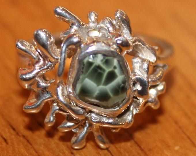 Chlorastrolite (Greenstone) Ring GR-133 Size 6