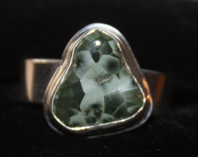Chlorastrolite (Greenstone) Ring  GR-123 Size 7.5
