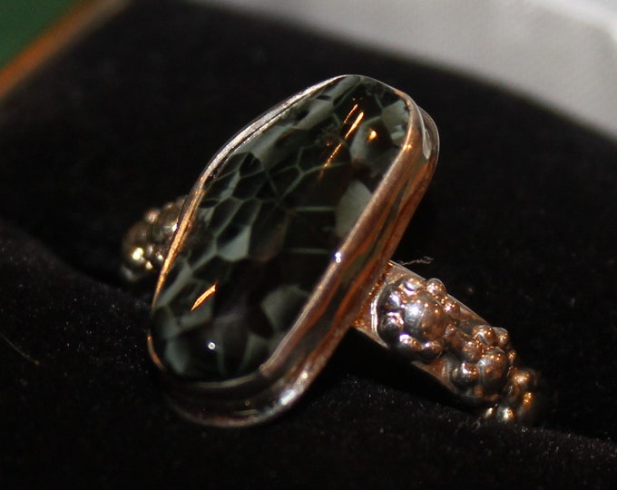Chlorastrolite (Greenstone) Ring GR-107 Size 7