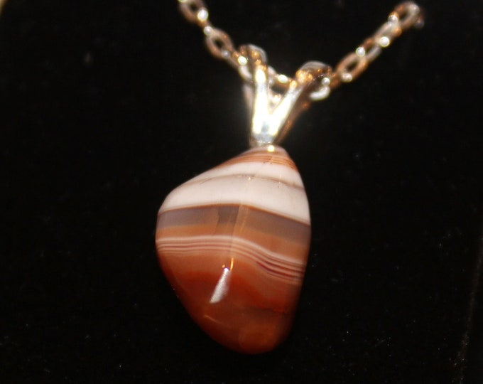 Lake Superior Agate Necklace LSAN-9