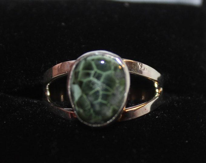 Chlorastrolite (Greenstone) Ring GR-115 Size 8