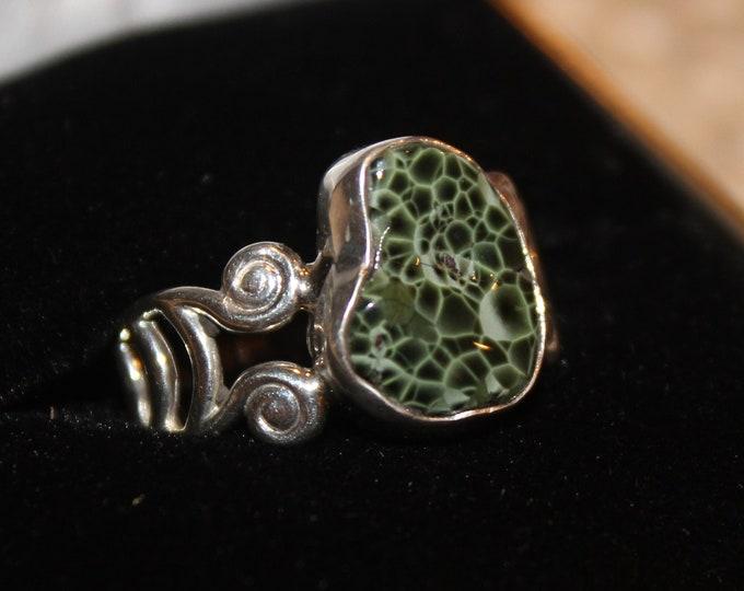 Chlorastrolite (Greenstone) Ring GR:135 Size 7.5