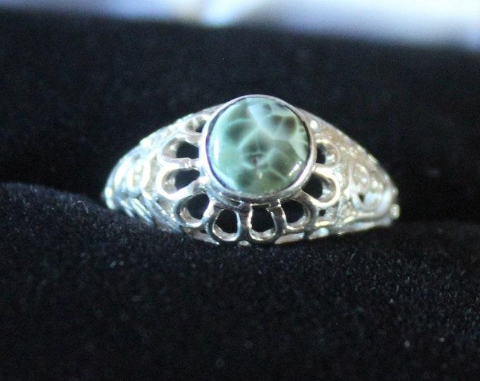 Chlorastrolite (Greenstone) Ring GR-117 Size 5
