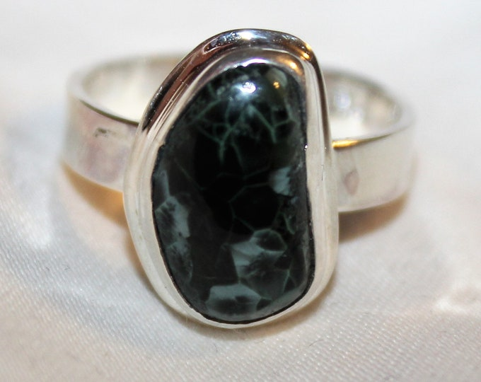 Chlorastrolite (Greenstone)  Ring: GR-114 SIze 7