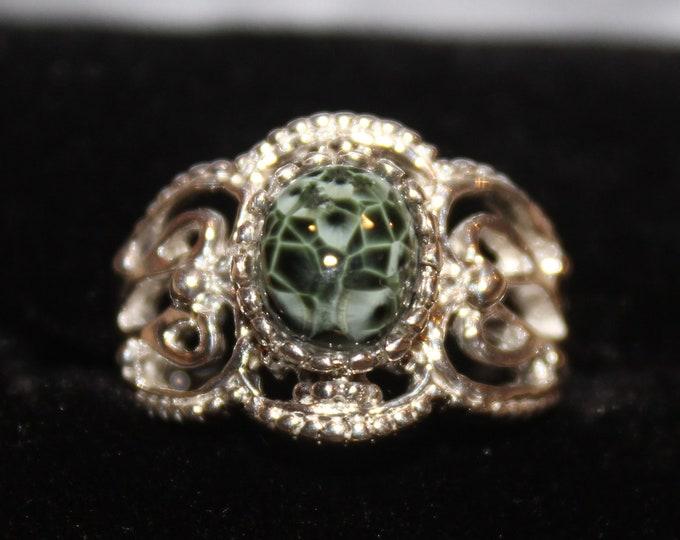 Chlorastrolite (Greenstone) Ring GR-131 Size: 5.25