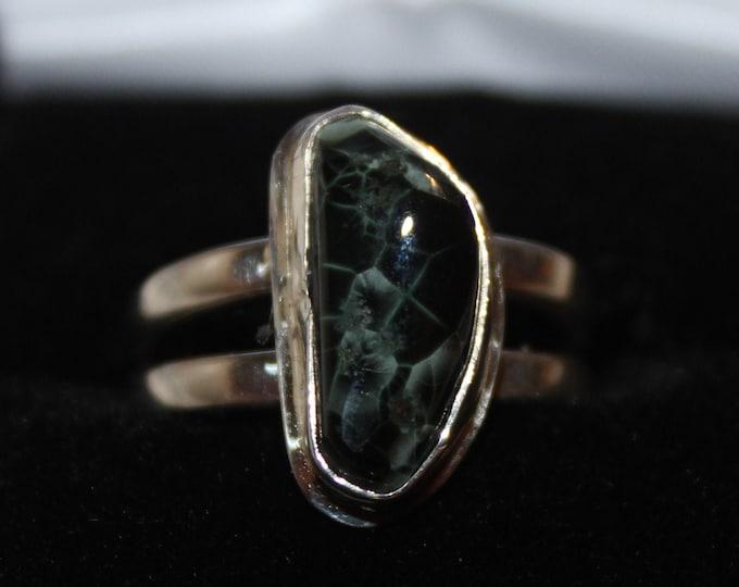 Chlorastrolite (Greenstone) Ring GR-141 Size 7.75