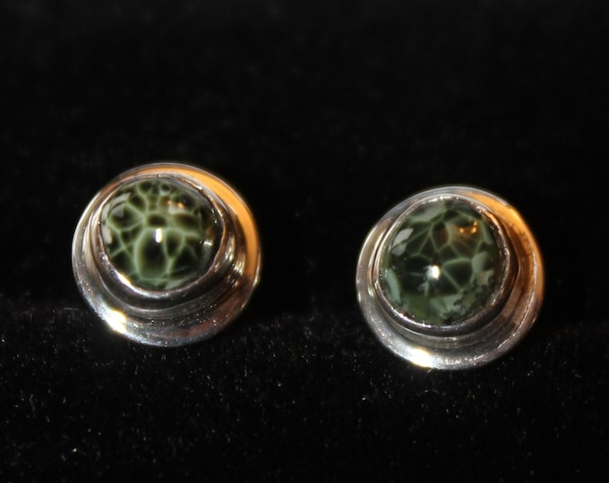 Chlorastrolite (Greenstone) Earrings GE-50