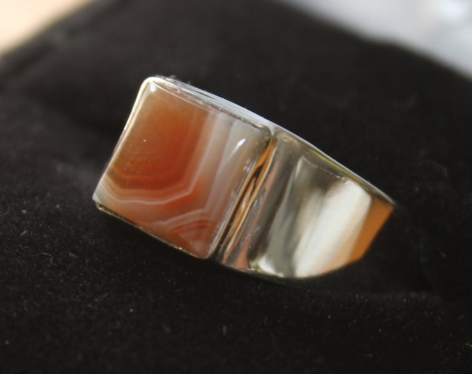 Lake Superior Agate Ring; LSAR-16 Size 8.5