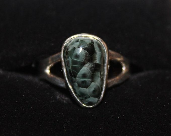 Chlorastrolite (Greenstone) Ring GR-128 Size 6.5