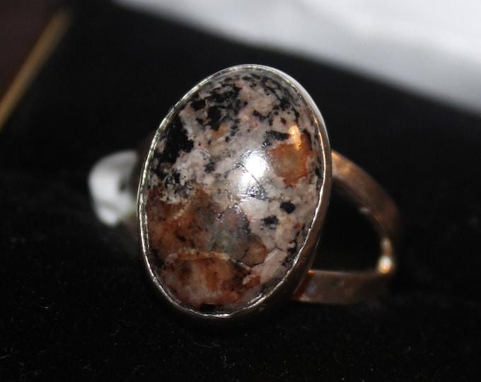 Yooperlite, Fluorescent, Sodalite  Ring: YR-2 Size 8.5