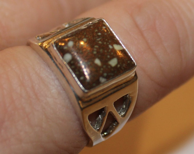 Michigan Firebrick Ring FBR-1 Size 9.25