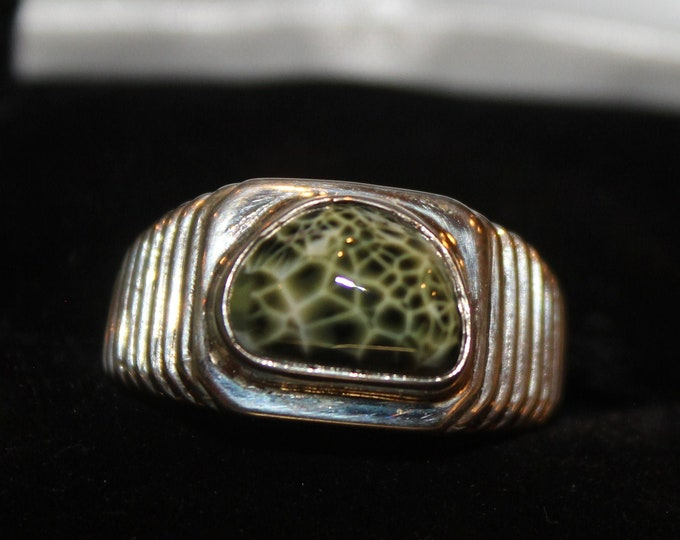 Chlorastrolite (Greenstone) Ring GR-108 Size 9.75