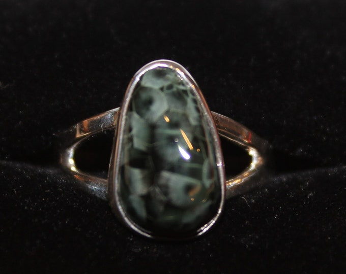 Chlorastrolite (Greenstone) from Isle Royale  (the old collection) Ring GR-92 Size 6.5