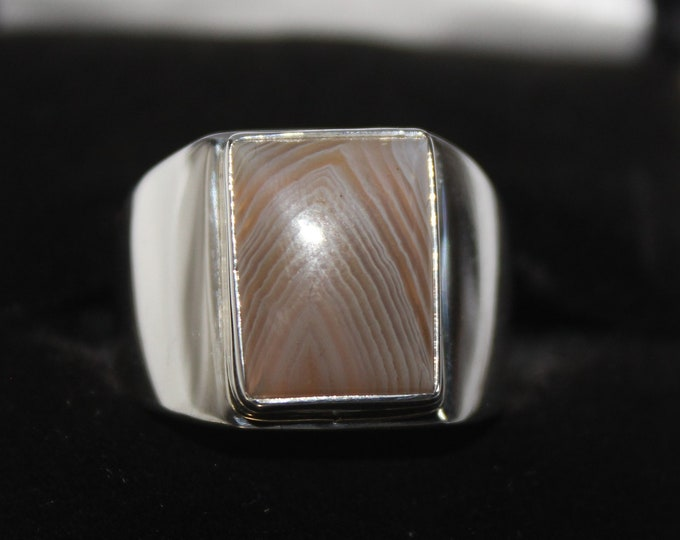 Lake Superior Agate Ring LSAR-17 Size 7.5