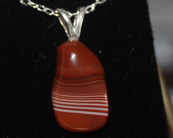 Lake Superior Agate  Necklace LSAN-13