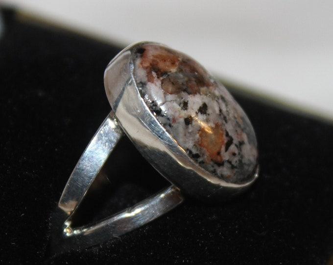 Yooperlite, Fluorescent Sodalite Ring YR-2 Size 8.5