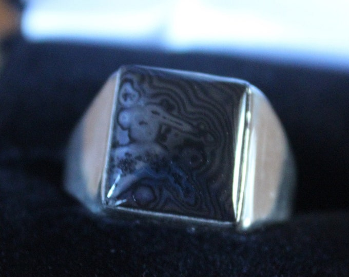 Banded Hematite Ring Very Rare HR-1 Size 8