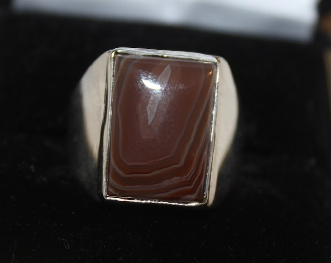 Lake Superior Agate Ring LSAR-19 Size 8.25