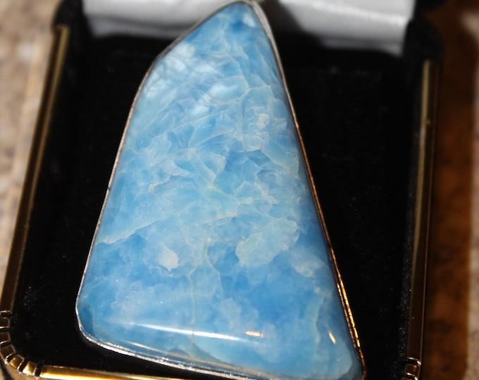Victoria Stone Pendant in Sky Blue