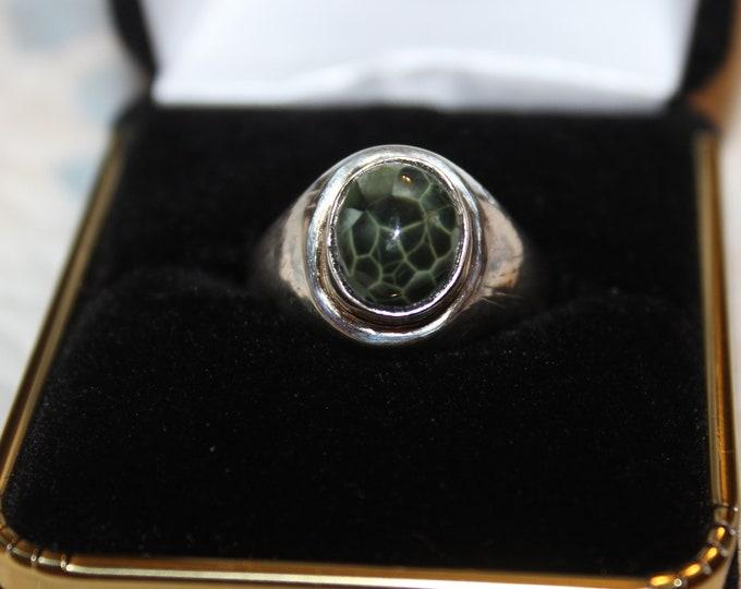 Chlorastrolite (Greenstone) Ring GR-136 Size 7.75