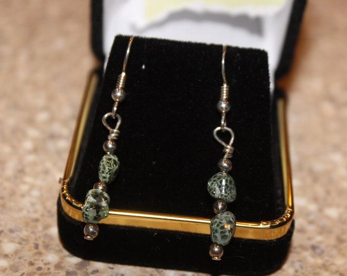 Chlorastrolite (Greenstone) Earrings GE-15