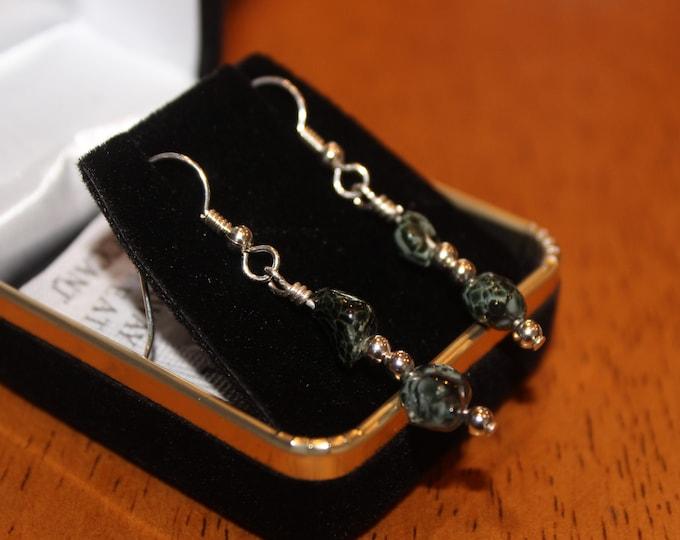 Chlorastrolite (Greenstone) Earrings: GE-26