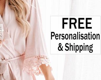 Lace Bridesmaid robes / Satin Bridesmaid Robes / Getting Ready Robes / Bridal Party Robes / Wedding Robes / Personalised Robes
