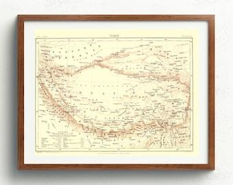 Himalayas Map Etsy