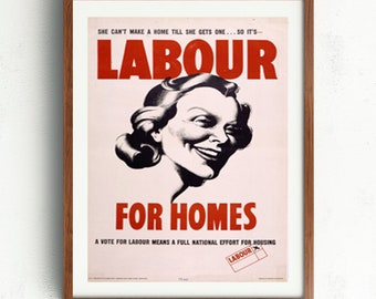 Labour party poster | Etsy