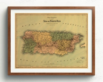 graphic about Printable Maps of Puerto Rico known as Puerto rico map Etsy