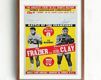 fabdf2482466 Joe Frazier Vs Casius Clay Boxing posVintage Poster Print