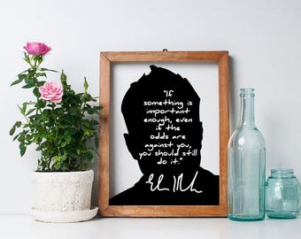 "Elon Musk ""Something is Important"" Art Print"