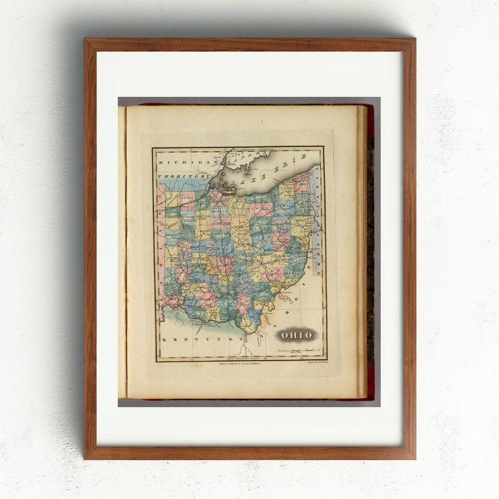 16x20 Florida 1823 Historic Decorative Wall Map