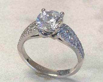 Fake Engagement Ring Etsy