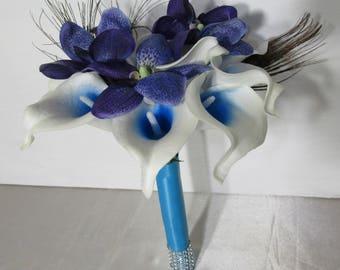 Blue orchid bouquet   Etsy