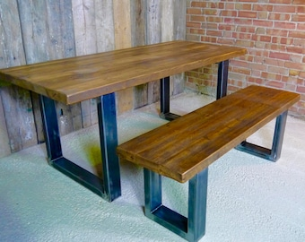The 'Square Leg' Reclaimed Dining Table